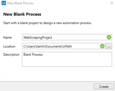 Blank Process in UiPath RPA Projects Edureka